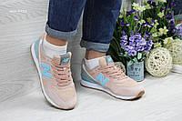 Женские кроссовки New Balance 999 розовые с голубым (Реплика ААА+), фото 1