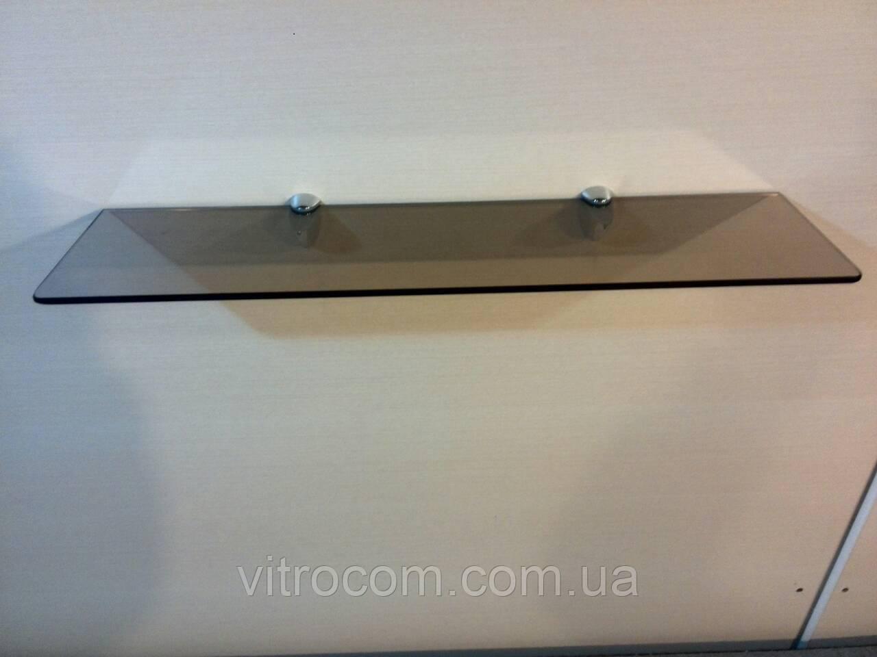 Полка 6 мм стеклянная бронзовая 60х15 см