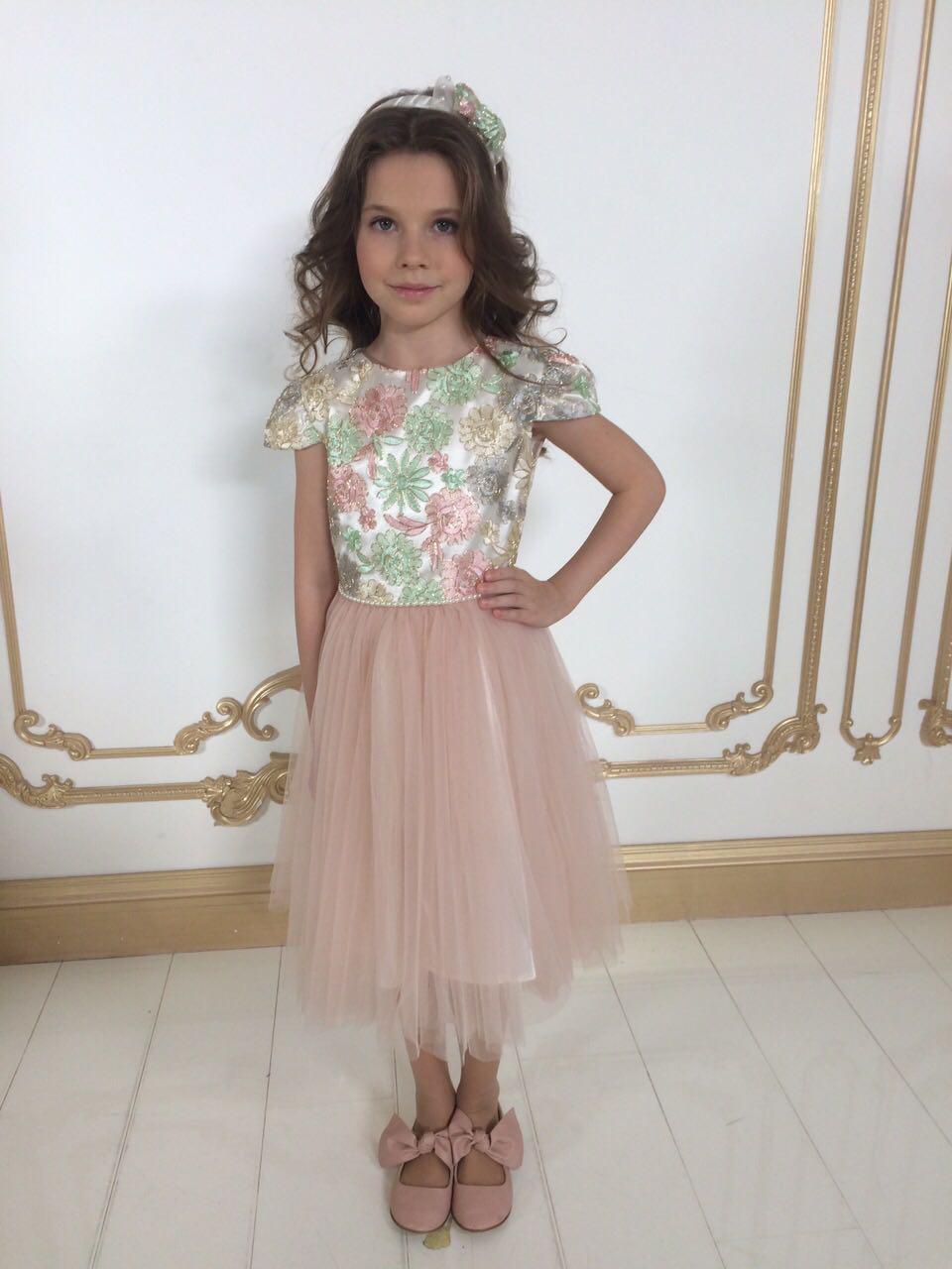 0d0d257d36f Платье праздничное для девочки размеры от 3 до 8 лет -