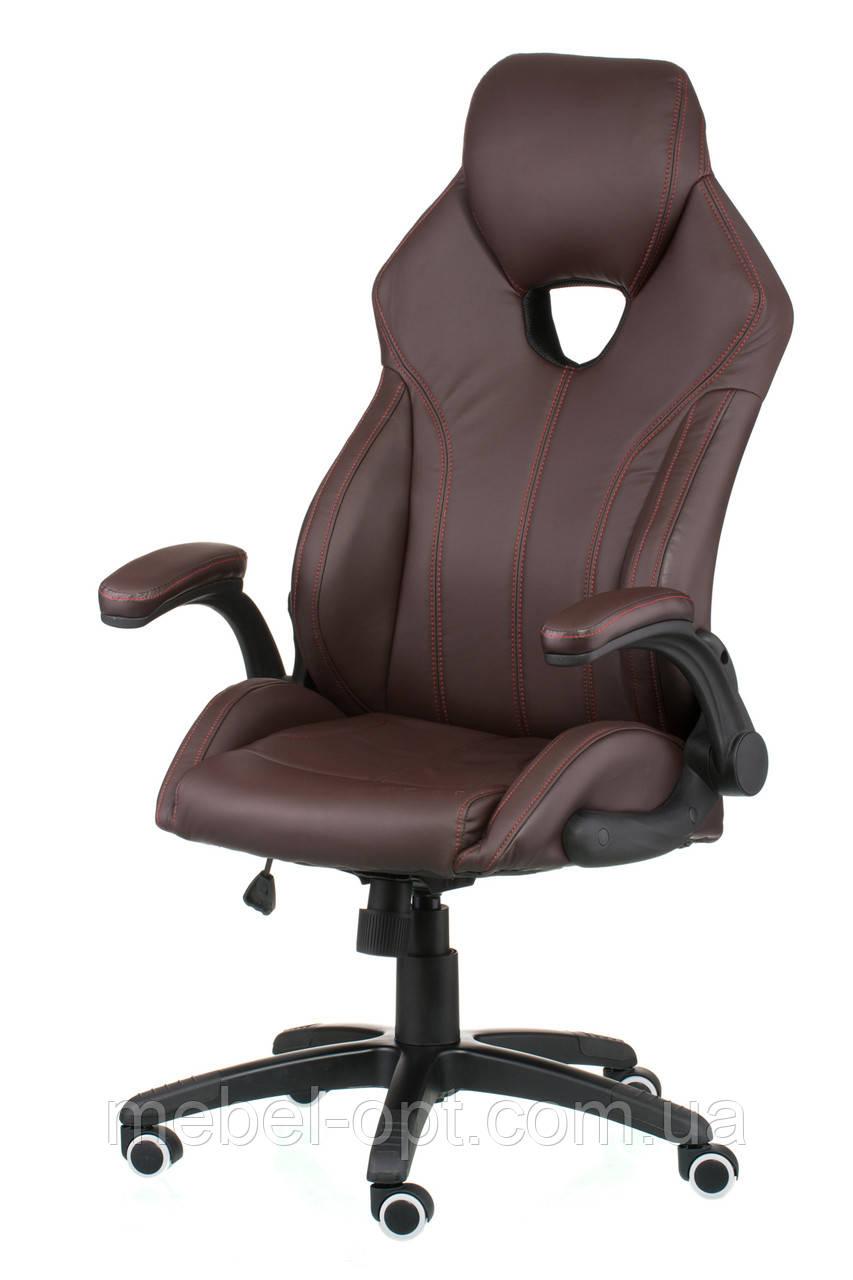 Кресло офисное для руководителя Lеadеr brown экокожа