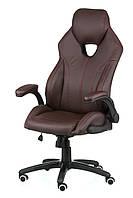 Кресло офисное для руководителя Lеadеr brown экокожа, фото 1