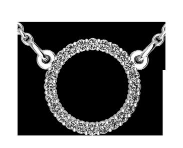 Подвеска - кулон серебряная Круг 60165