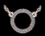 Подвеска - кулон серебряная Круг 60165, фото 2