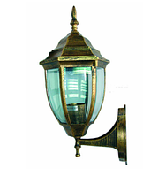 Садово-парковый фонарь PL5101 античное золото, Е27 металл, фото 1