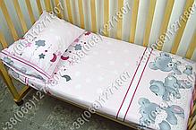 """Детское постельное белье в кроватку """"Карапуз"""" комплект 7 ед. Мишка подушка розовый, фото 3"""