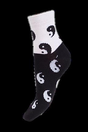 Носки демисезонные с рисунком Инь и Янь 17В216К р 23, фото 2