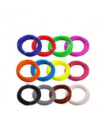 Комплект ABS пластик для 3D ручки (12 цветов)