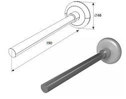 Ролик удлиненный для секционных ворот DoorHan 25011G (белый)