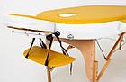 Великий масажний стіл дерев'яний 2-х сегментний RelaxLine Sahara кушетка масажна для масажу, фото 2