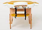 Великий масажний стіл дерев'яний 2-х сегментний RelaxLine Sahara кушетка масажна для масажу, фото 3
