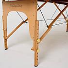 Великий масажний стіл дерев'яний 2-х сегментний RelaxLine Sahara кушетка масажна для масажу, фото 6