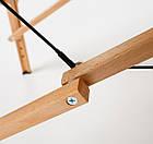 Великий масажний стіл дерев'яний 2-х сегментний RelaxLine Sahara кушетка масажна для масажу, фото 8