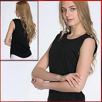 Черная женская футболка *Bottoni* / 9 цветов, фото 1