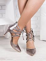 Босоножки - туфли Olimp серебро 6368-28