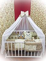"""Детская постель для новорожденных Bonna """"Лесные зверята"""" бежевый"""
