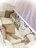 """Детская постель для новорожденных Bonna """"Лесные зверята"""" бежевый, фото 2"""