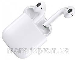 Беспроводные наушники, гарнитура apple earpods с зарядным чехлом