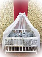 """Детская постель для новорожденных Bonna """"Лесные зверята"""" серый"""