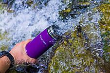 Спортивная термос-бутылка 2058 из нержавеющей стали с трубочкой и клипсой Kamille 500мл, фото 2