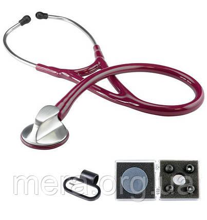 Стетоскоп кардиологический Top-Cardiology, KaWe, бордового цвета, фото 2