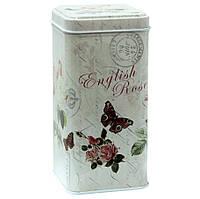 Емкость для сыпучих продуктов Олди Английская роза, 250г ( жестяная коробка )