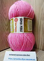 Акриловая пряжа (100%-акрил, 100г/ 400м) Kartopu Super Perle K787(розовый)