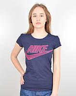 """Женская футболка """"NIKE"""" синий+малина, фото 1"""