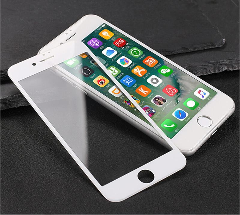 Защитное стекло GAGP для Iphone 6 Plus / Iphone 6s Plus белое Carbon Fiber