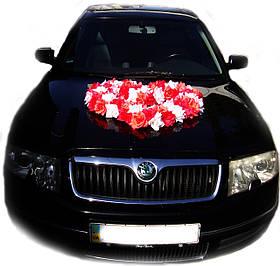 """Свадебные украшения на машину """"Цветущее сердце"""""""