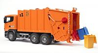 Bruder игрушка - мусоровоз scania  r-r-series, оранжевый,  м1:16 (03560)