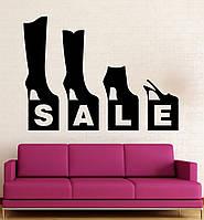 Виниловая наклейка-  распродажа  обуви