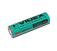 Аккумулятор 18650, 2200 mAh, Videx, 1 шт, Li-ion, Bulk (высокотоковый)