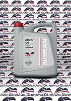 Масло моторное Nissan Motor Oil 5w40- 5L