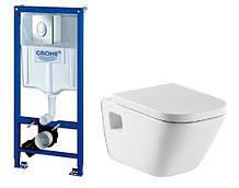 Комплект: GAP унитаз подвесной, сидение soft close, инсталляция Rapid SL 38721001