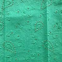 Ткань лен с вышивкой перфорированный 6153B C4
