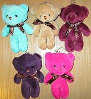 Медведь брелок на рюкзак или сумку Мишка мягкий плюшевый, фото 1