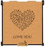 """Подарок на День Святого Валентина для девушки, жены, любимой. Подарочный набор чая """"Love You"""""""