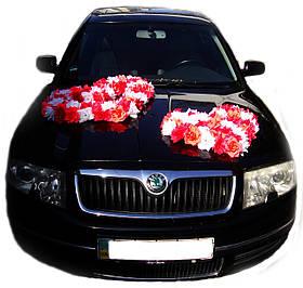 """Свадебные украшения на машину """"Сердца Любовь"""""""