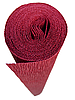 16А/2 (583) ИТАЛЬЯНСКАЯ ГОФРИРОВАННАЯ БУМАГА CARTOTECNICA ROSSI Красный гранат 50X250 СМ