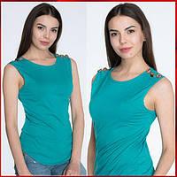 Летняя футболка *Bottoni* цвет бирюза, фото 1