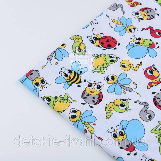 Хлопковая ткань с насекомыми