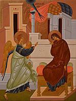 Икона писаная Благовещение Пресвятой Богородицы