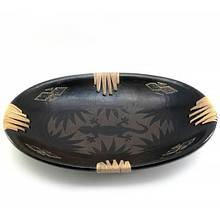 Блюдо овальное Саламандра терракот