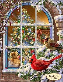 """Схема для вышивки бисером на атласе """"Рождественская атмосфера"""""""
