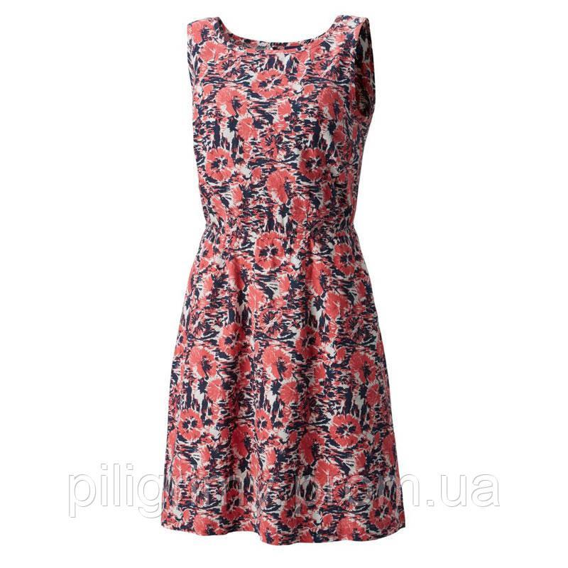 Женское платье Columbia HARBORSIDE™ LINEN DRESS красно-синее FL0026 464 -  интернет-магазин 2efb2d70188cc