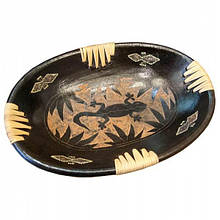 Тарелка овальная декоративная Саламандра