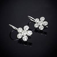 Серебряные изящные серьги Цветочек, фото 1