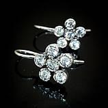 Серебряные изящные серьги Цветочек, фото 2