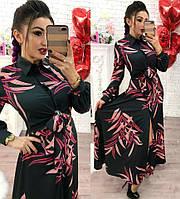 Платье с рубашечным воротником в пол , фото 1