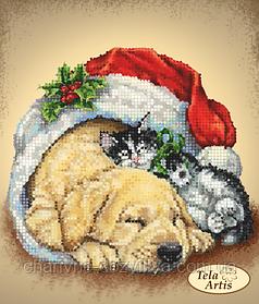 """Схема для вышивки бисером на атласе """"Сон в Рождественскую ночь"""""""